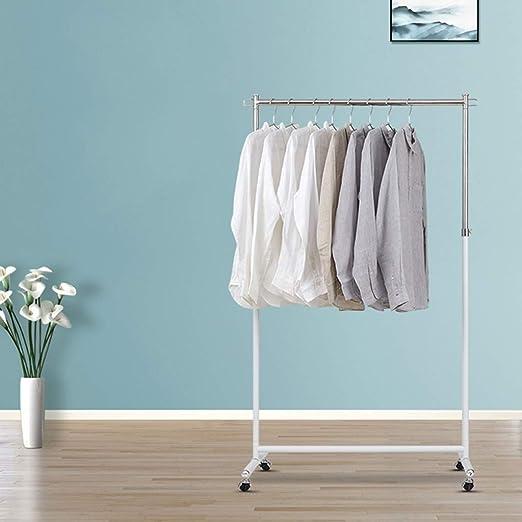 Perchero de riel seco ajustable Perchero de ropa de un solo ...