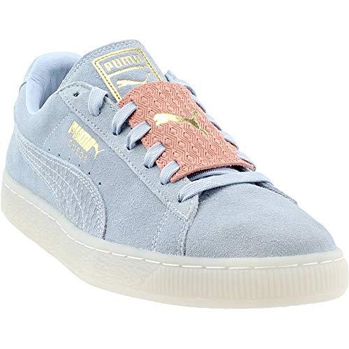 PUMA Suede Epic Remix Mens Blue Suede Lace Up Sneakers Shoes 8.5