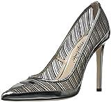 Alejandro Ingelmo Women's 4000-9 Dress Pump, Dark Silver, 37.5 EU/6.5 W US