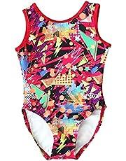 LIL'FOX Gymnastics Leotards for Girls - LYCRA PRINT for Dance, Tumbling, Acrobatics, Gymnastics Equipment