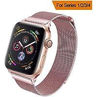 HILIMNY Compatible para Apple Watch Band 1.496in 1.575in 1.654in 1.732in, correa de malla de acero inoxidable Milanese Sport con cierre magnético ajustable para iWatch Series 1/2/3/4