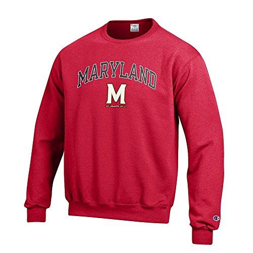 (Elite Fan Shop Maryland Terrapins Crewneck Sweatshirt Arch M Red -)