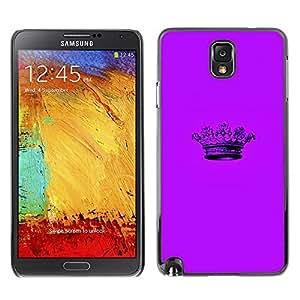 TopCaseStore / la caja del caucho duro de la cubierta de protección de la piel - Crown Purple Minimalist Pen - Samsung Galaxy Note 3 N9000 N9002 N9005