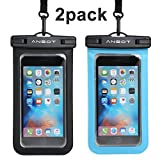 Ansot Universal Waterproof Case, Cellphone Dry Bag Pouch for Apple IPhone 6S/6/6S Plus/Se 5S - 2 Piece