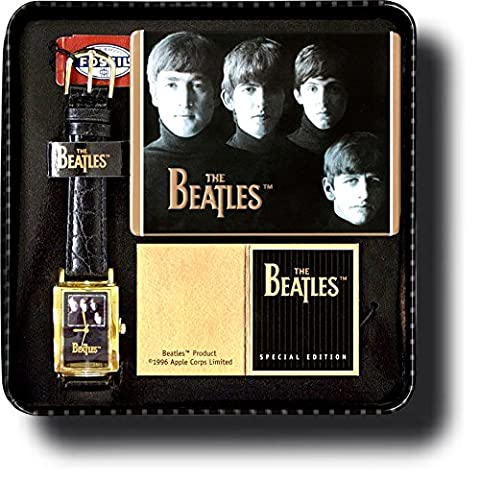 """The Beatles 1996 Limited Edition GOLD COLLECTOR'S SERIES Authentic Fossil """"Meet The Beatles"""" (Fossil Limited Edition)"""