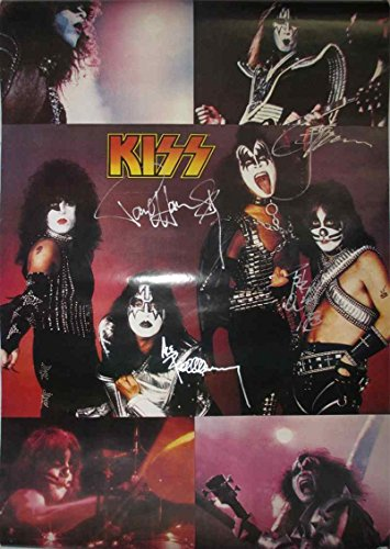 Kiss Group Signed Autographed 35