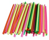 Chef's 1st Choice Plastic Disposable Smoothie Drinking Straws Assorted Colors Bulk! -400 Pieces
