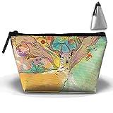 Bing4Bing Oxford Fabric Autumn Animal Trapezoid Receive Bag,Sewing Kit Cartridge Bag Cosmetic Bag Storage Bag