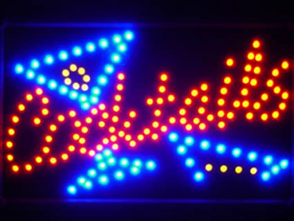 led040-r cócteles Bar LED Neon Light Sign Pizarra: Amazon.es ...