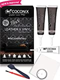 Coconix Black Leather Repair Kits For Couches - Vinyl & Upholstery Repair Kit For Car Seats, Sofa & Furniture - Liquid Scratch Filler Formula Repairs Couch Tears, Pet Marks, Cat Scratches & Burn Holes