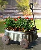 Cheap VIP Home & Garden Galvanized Metal Wagon Shaped Garden Planter Container – Vintage Outdoor Decor