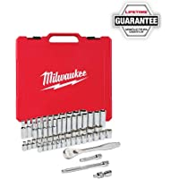 HomeDepot.com deals on Milwaukee 3/8in Drive SAE/Metric Ratchet and Socket Tool Set