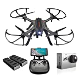 ElementDigital Drone with Camera MJX Bugs B3H 2.4G 6-Axis Gyro App Operation FPV Drone Altitude Hold Brushless Motor, Bonus Battery, FPV Quadcopter with 5G WiFi 1080P (MJX B3H+Sport Camera C6000) Review