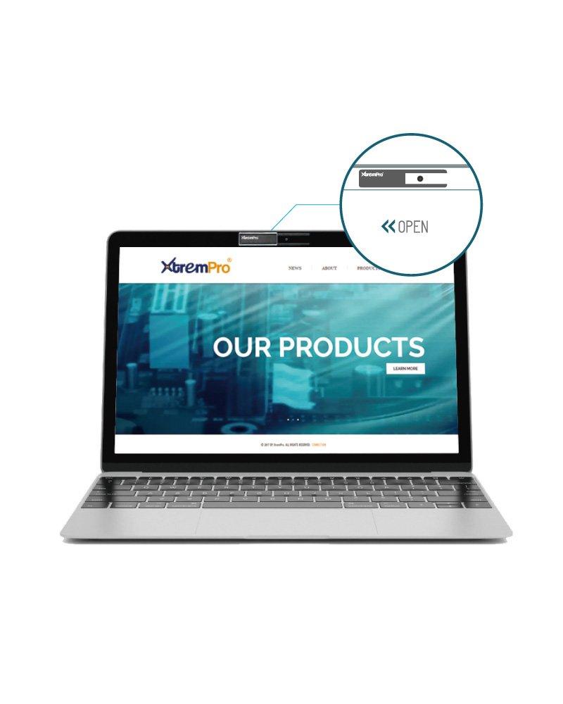 Mac Surfcase Pro MacBook Pro XtremPro Webcam Cover Privacy Shield for Computer Laptop Silver iMac 0.03 in Ultra Thin Camera Blocker Privacy Shield Black//Silver Phone