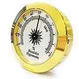 Round Golden Cigar humidor Hygrometer Hygrometer humidor