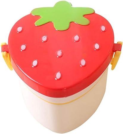 Yarmy Fiambreras bento,Fresa linda Bento Lunch Box De Plástico Niños Estudiante Snack Box Para Niños Lunchbox Caja de Almacenamiento de Contenedores de Comida Gadgets de Cocina: Amazon.es: Hogar