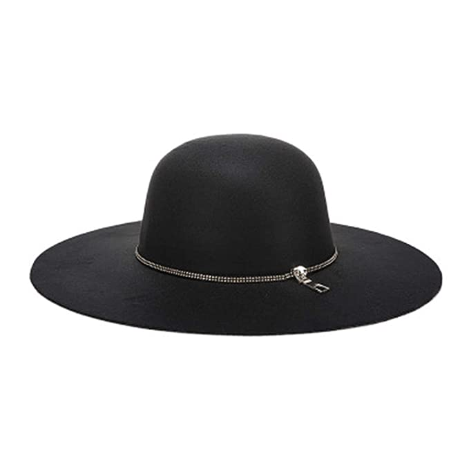 Women Autumn Wide Wool Edge Hats Ladies Spring Floppy Wool Felt Big ... 6b45e0979a7