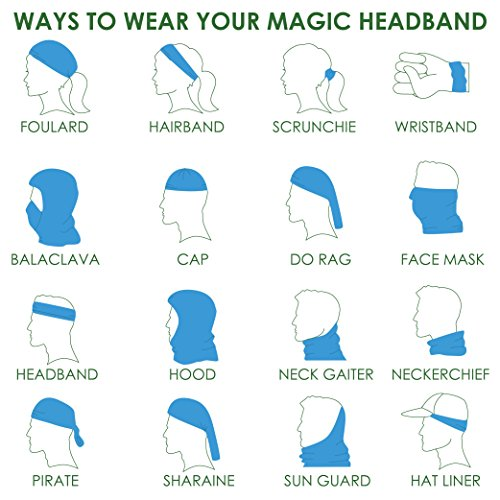 Headwear - 16-in-1 Headband to Protect You from the Sun, Wind and Dust (Tibetan)