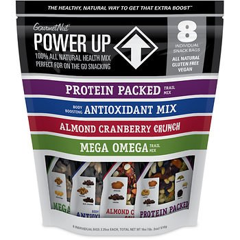 Healthy Snacks Nuts Trail Mix All Natural Protein Packed Antioxidant Mix Almond Cranberry Crunch Mega Omega 2 Packs of 8 Individual Snack Bags By Power Up GourmetNut For Sale