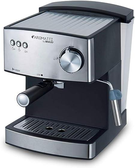 SOGO CAFETERA Combi SS-5665 Aromatti, 850W, 15/20 Bar, para Café ...