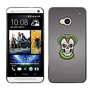 Impact Case Cover with Art Pattern Designs FOR HTC One M7 Cobra Skull Snake Skeleton Betty shop