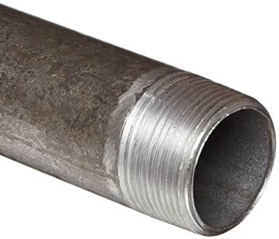 Anvil Steel Pipe Fitting, Schedule 40, Nipple, NPT Male, Black Finish