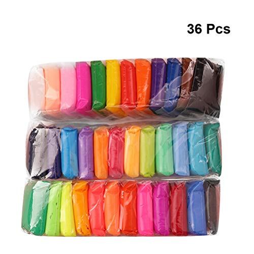 SUPVOX Arcilla seca al aire 36 colores Super Light Crystal Plasticine DIY Modelado Arcilla