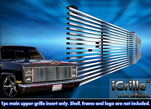 Stainless Steel 304 Billet Grille Grill Custome Fits 1981-87 Chevy C/K Pickup/Suburban/Blazer