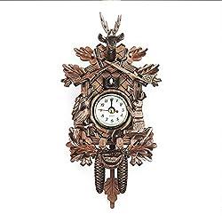 Famtasme Wooden European style living room vintage wall clock, Cuckoo Clock Cuckoo Wall Clock