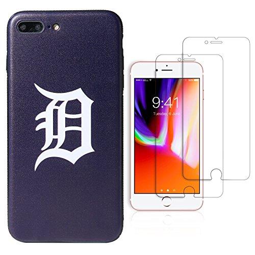 (Sportula MLB Phone Case Matching 2 Premium Screen Protectors Extra Value Set - for iPhone 7 Plus/iPhone 8 Plus (5.5