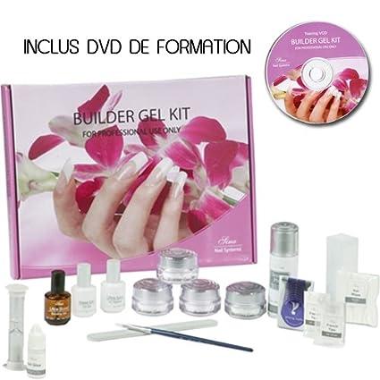 Kit de uñas postizas gel, 17 piezas: Amazon.es: Belleza