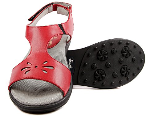 Sandbaggers Carrie Women's Golf Sandal (Red, -