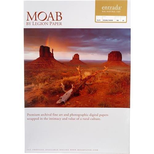 Entrada Fine Art Natural - Moab Entrada Rag Fine Art, 2-Side Natural Matte Inkjet Paper, 15.5 mil., 190gsm, 5x7