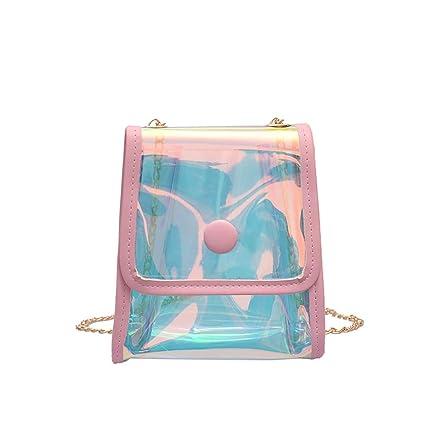 b630e8450230 Amazon.com | Sameno Clear Bag ✿ Womens Transparent Jelly Messenger ...