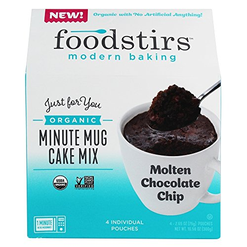 Price comparison product image Foodstirs - Organic Minute Mug Cake Mix Molten Chocolate Chip - 4 Pouches