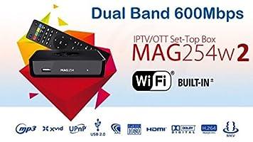 New Original Infomir MAG254W2 Mag 254W2 Builtin Dual Band WiFi 600 Mbps 5G WiFi mag 254 w2
