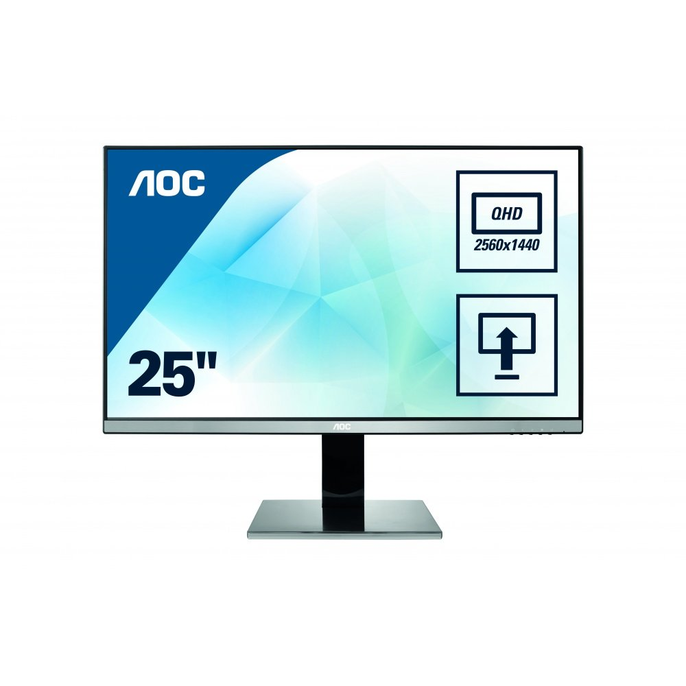 "AOC Q2577PWQ IPS Ecran PC LED 25"" 2560 x 1440 5 ms HDMI/VGA/DVI Noir product image"