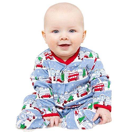 Jojo Maman Bebé Bebé Navidad Nevada London Escena Pijama Pelele ...