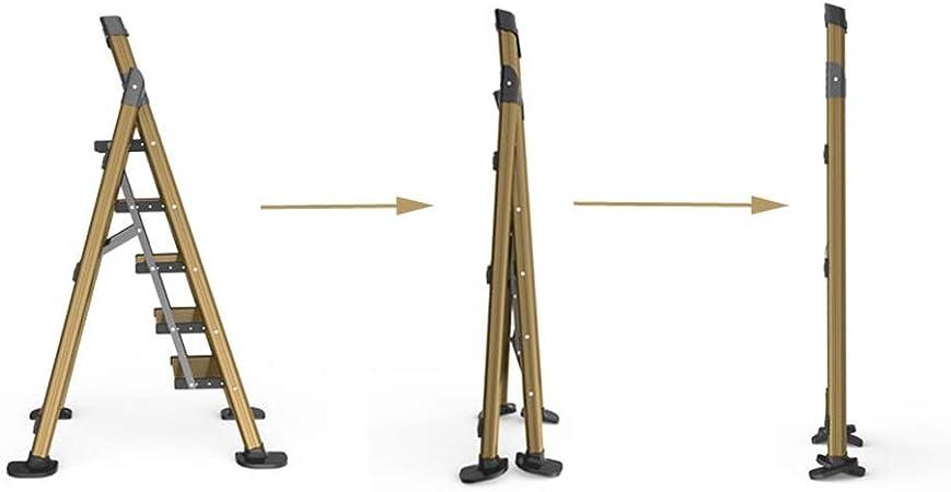 XSJZ Escalera de Aluminio, Escaleras Plegables Portátiles Plegables Retráctiles Compactas de Ingeniería Escaleras Multifunción Escalera Plegable: Amazon.es: Hogar