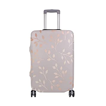 bdfb0c4df330 Amazon.com | Rose Gold Small Green Leaf Travel Luggage Cover ...