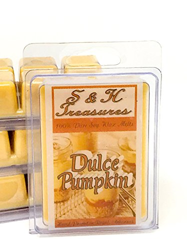 Dulce Pumpkin - Pure Soy Wax Melts - Fall Scents - 1 pack (6 cubes)
