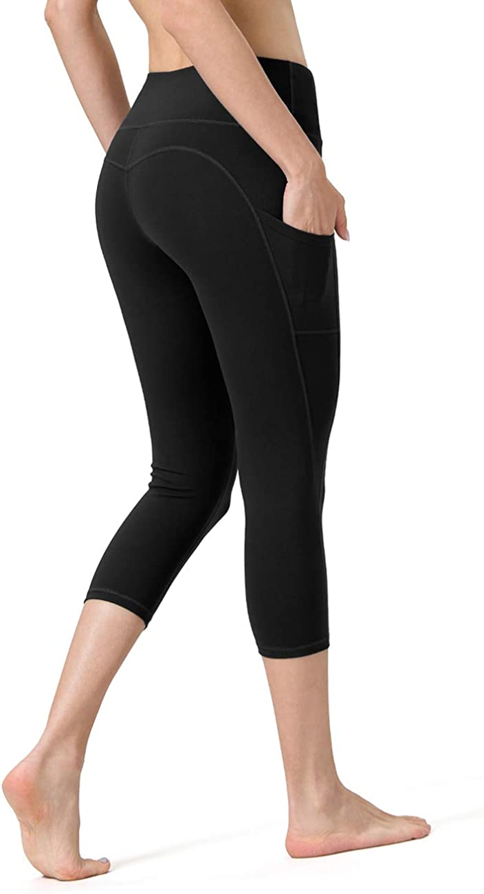 ALONG FIT Capri Leggings with Pockets Yoga Pants for Women Yoga Capri