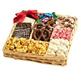 Happy Holidays Chocolate & Nut Gift Tray by Broadway Basketeers