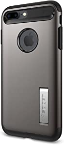 Spigen Slim Armor Designed for Apple iPhone 8 Plus/iPhone 7 Plus Case (2016) - Gunmetal