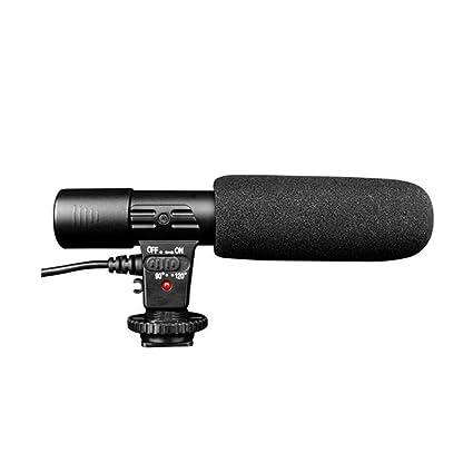 MIC-01 - Micrófono estéreo DV/cámara de vídeo, cámara DSLR con ...