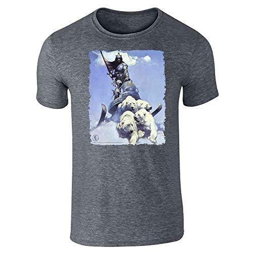 Silver Warrior by Frank Frazetta Art Dark Heather Gray 3XL Short Sleeve T-Shirt