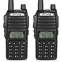 BaoFeng 2pcs UV-82 2-Pack Dual-Band 136-174/400-520 MHz FM Ham Two-Way Radio, Transceiver