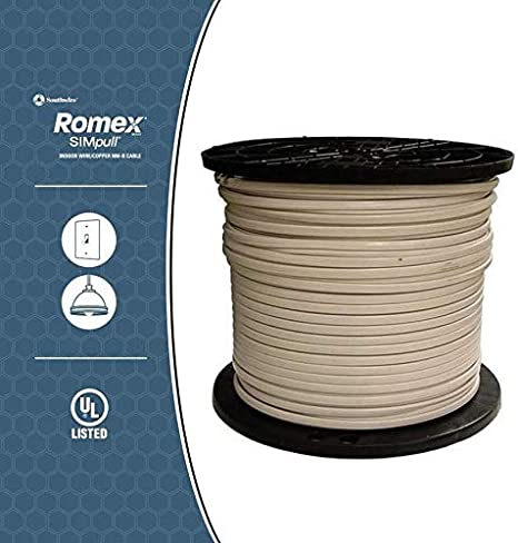 Southwire 1,000 ft 14//2 Solid Romex SIMpull CU NM-B W//G Building Wire