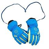 SZHOWORLD Kids Toddler Children Youth Winter Waterproof Keep Warm Ski Gloves Snowflake Embroidery