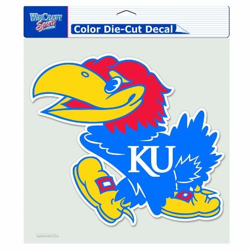 NCAA Kansas Jayhawks 8-by-8 Inch Diecut Colored Decal